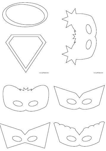Juf Sanne Lesidee: superhelden maskers