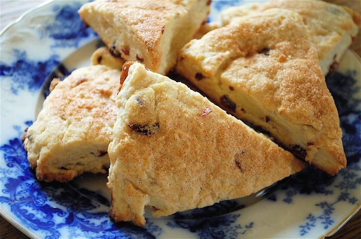 Cream Scones With Currants Recipe — Dishmaps