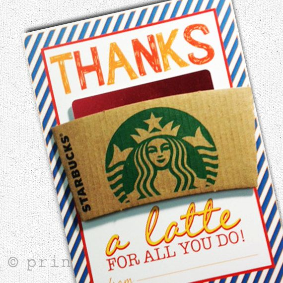 Thank You Gift for Teachers! | Gift Card  Custom Coffee