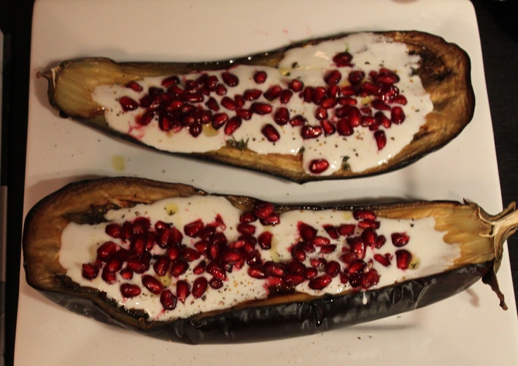Eggplant with buttermilk sauce from Plenty, amazing vegetarian ...