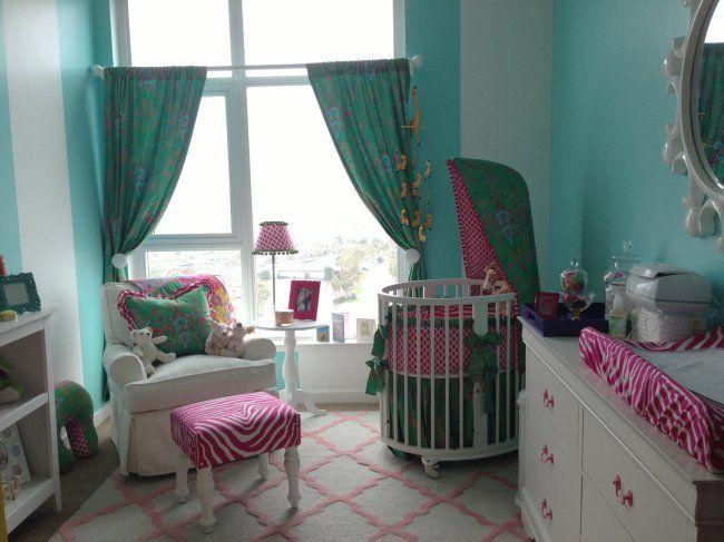 Bright and happy baby girl nursery | #BabyCenterBlog