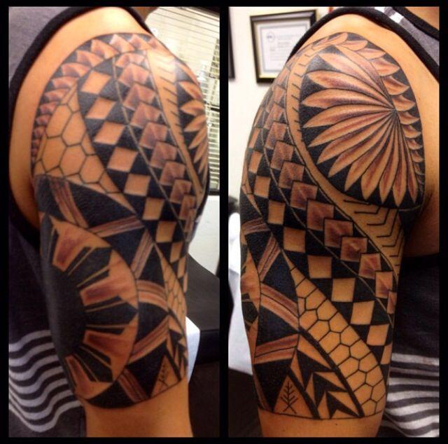 Filipino Tattoos Designs Ideas And Meaning: Filipino Tribal Half Sleeve Tattoo