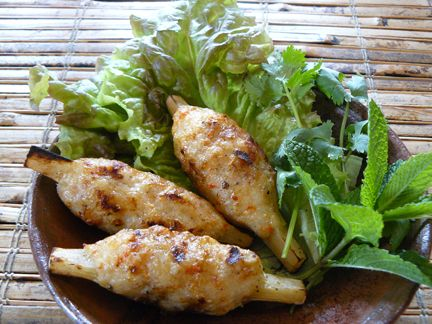Chao Tom (Grilled Shrimp Paste on Sugarcane), so great when they get ...