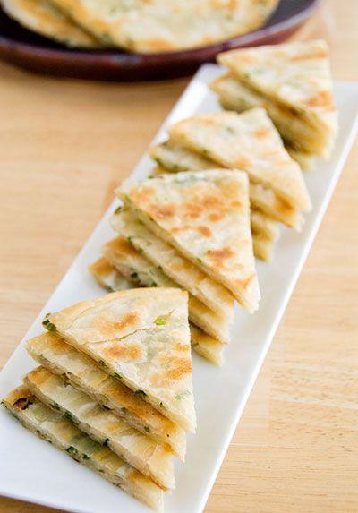 Scallion Pancakes Recipe - Saveur.com | food and drink | Pinterest