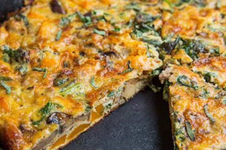 Butternut Squash, Mushroom, Kale And Sausage Frittata Recipe ...
