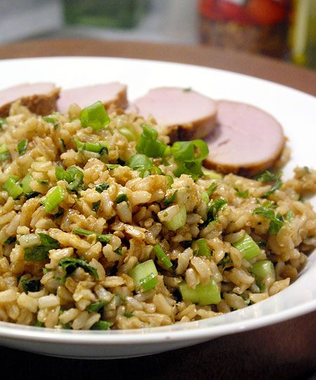 Brown Rice with Ginger and Scallions | food and drink | Pinterest