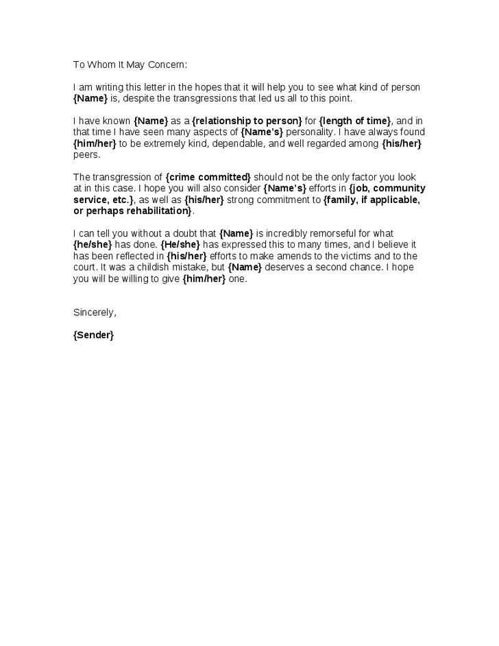 reference letter for judge letter of recommendation