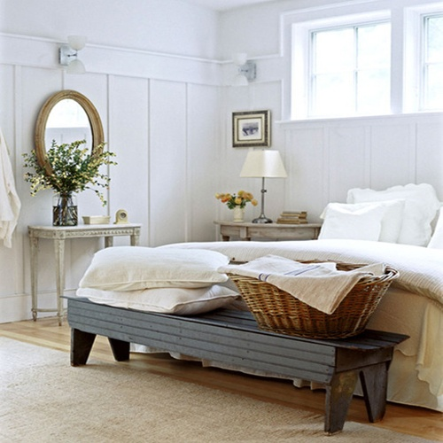 rustic white bedroom love the bench home is where the is pi
