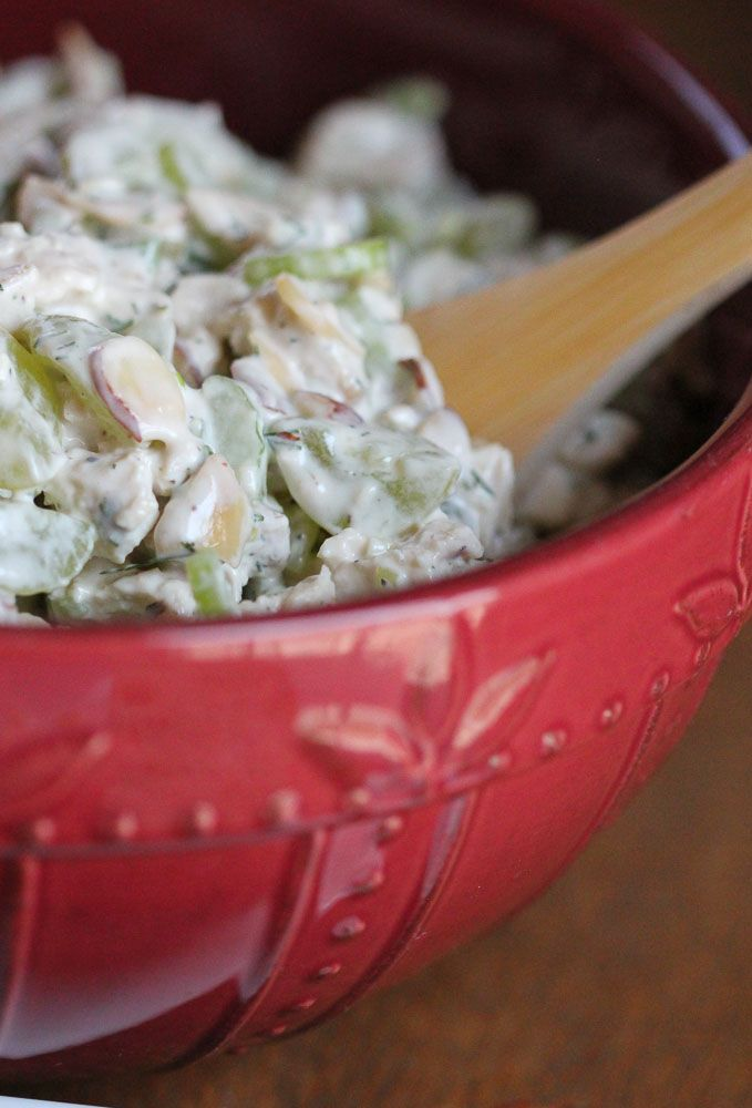 Chicken Salad with grapes and almonds | FOODS TO TRY | Pinterest