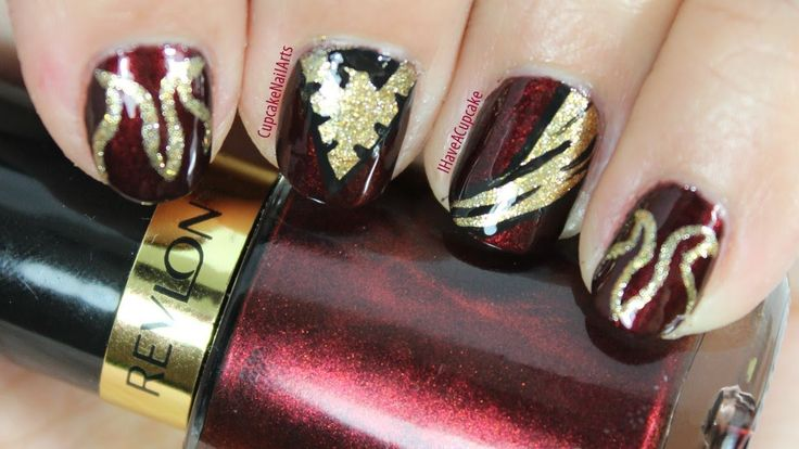 Marvel Nail Art  Dark Pheonix  Nail Art  Pinterest