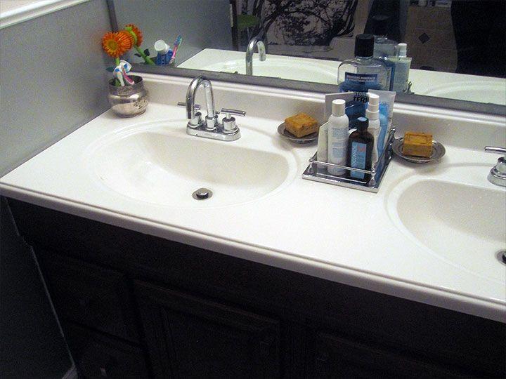 Countertop Paint Bathroom : Vanity Top with countertop paint bathroom Pinterest
