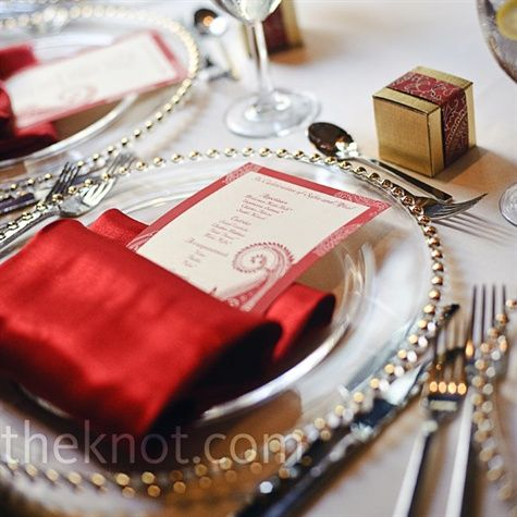 Red Place Settings