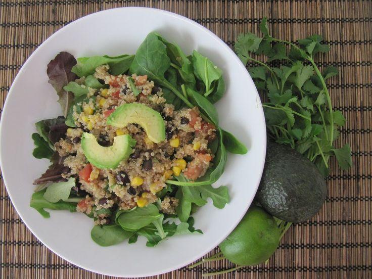 Southwestern Quinoa Salad with Lime Cilantro Vinaigrette