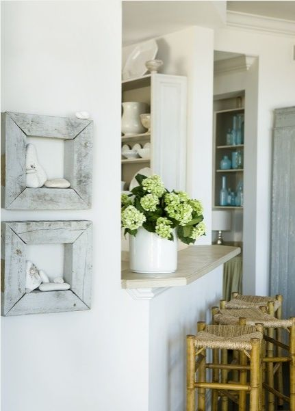 DIY Beachy Rustic Shadow Boxes DIY WHITE AT HOME Pinterest