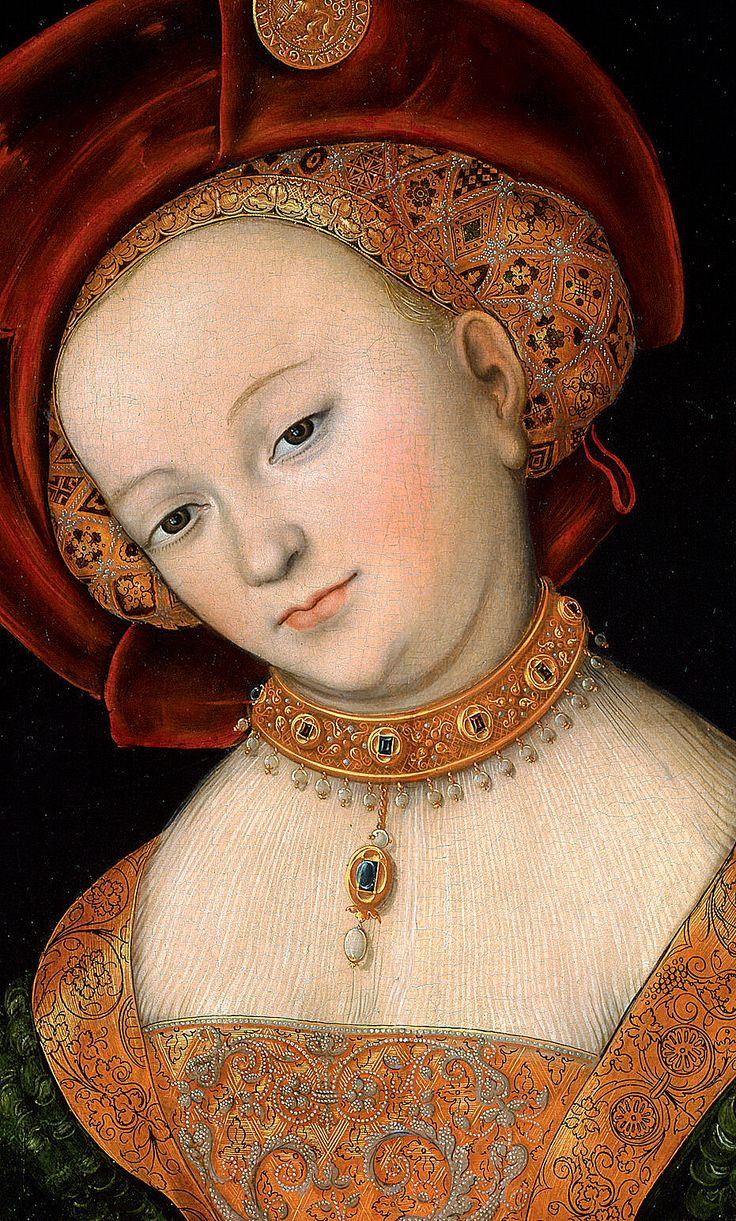Lucas Cranach, 'Judith'; detail.
