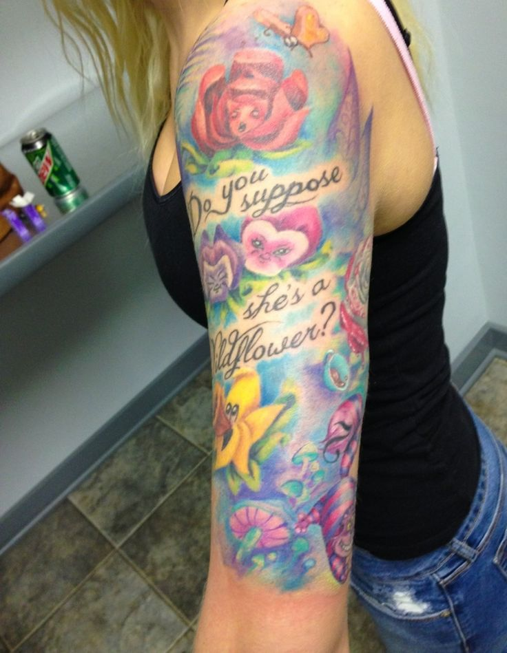 Alice in wonderland tattoo | Tattoos | Pinterest