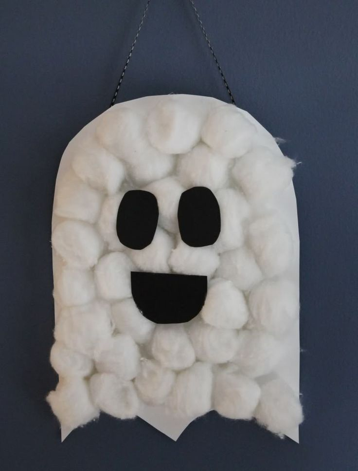 Pin by Debbie G... Halloween Crafts For Kids Ghosts