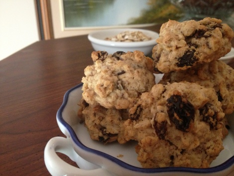 thick and chewy oatmeal raisin cookies | vegan eats | Pinterest