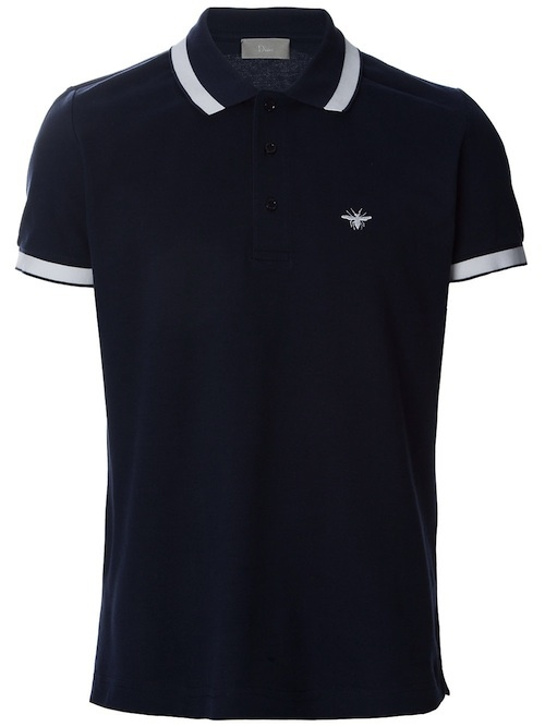 Dior polo shirts are mega expensive but perfectly cut for I like insects shirt