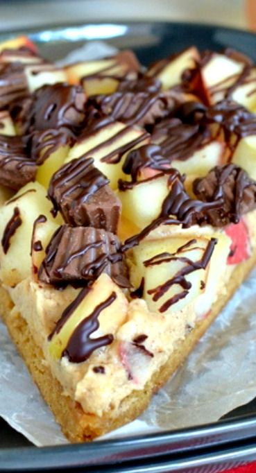 ... peanut butter cheesecake, apples, and peanut butter cups is a dessert