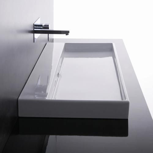 Wall Mount Ada Sink : ... 100 White Ada Wall Mount Or Countertop Bathroom Sink Without Fa