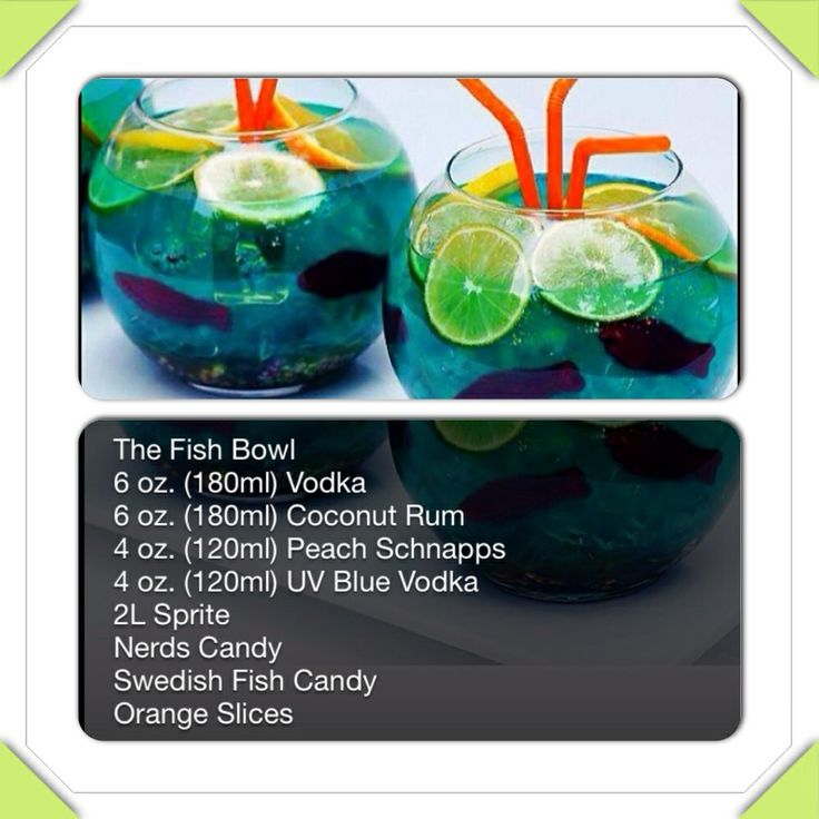 Fish bowl drink fooood for Fish bowl drink recipe