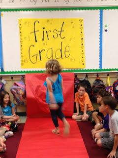 Love it~Roll out the red carpet (paper) and give the class their candy ...