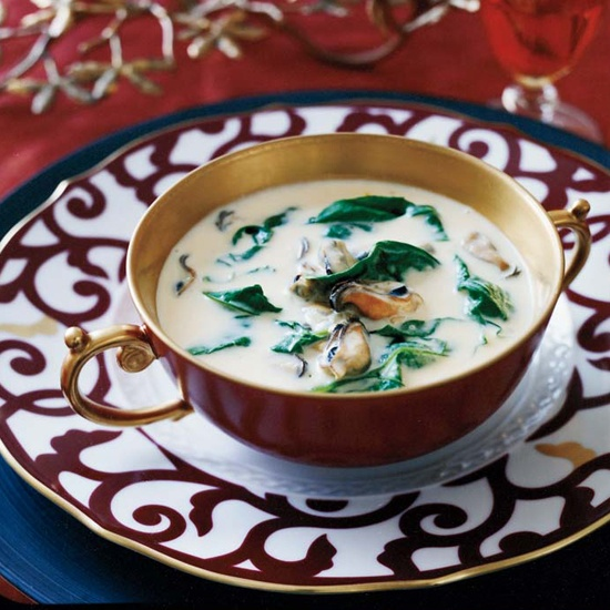 Mussel-and-Spinach Bisque | Let's Share Vegetarian Soup Recipes | Pin ...