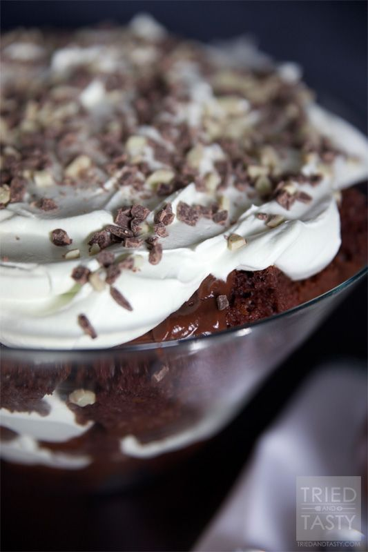 Chocolate Mint Trifle - Tried and Tasty