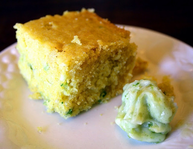The best cornbread I've ever made at home. I used one serrano instead ...