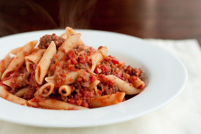 my favorite ragu recipe. I use ground italian sausage and shred the ...