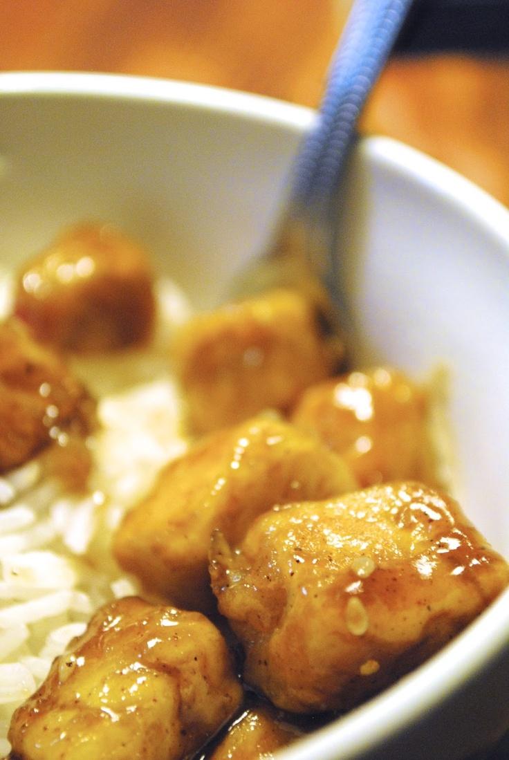 Honey-sesame tofu (with rice) | Favorite Recipes | Pinterest