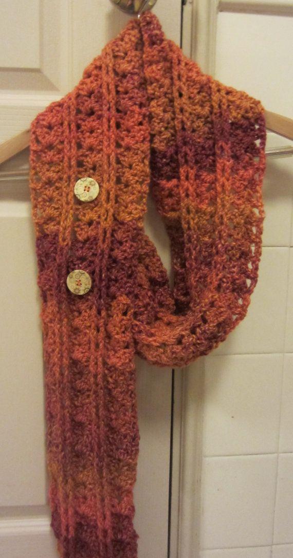 Fall Crochet Patterns : Crochet Pattern Autumn Leaves Fall Winter Scarf by APieceOfCrochet, $1 ...