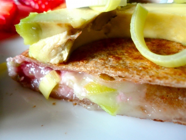 Strawberry + Leek Quesadilla | Yummies :) | Pinterest