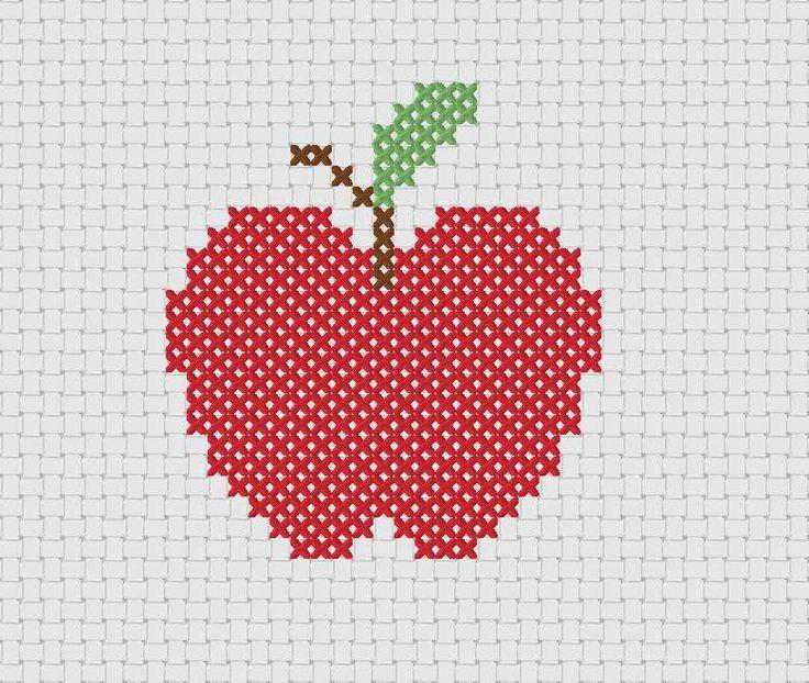 Вышивка схема яблок 5