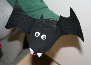 bat sock puppet