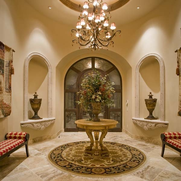 Foyer Niche Ideas : Foyer with carved stone niches for the home pinterest