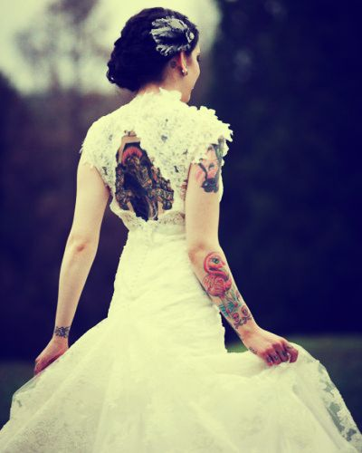 Tattoos and wedding dresses wedding dresses in redlands for Tattoo wedding dress