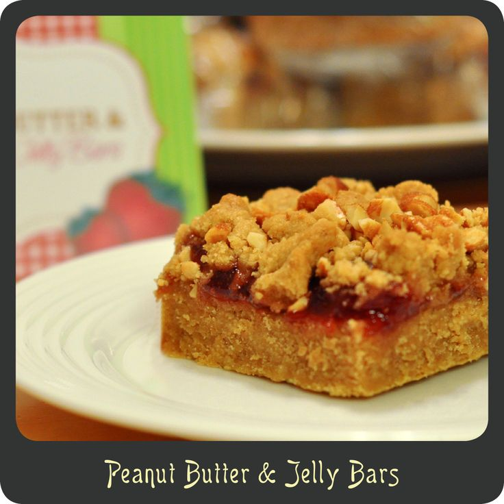 Peanut Butter And Jelly Bars Recipe — Dishmaps