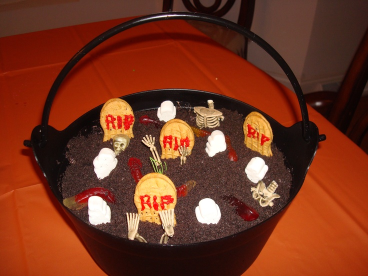Dirt Cake Ideas For Halloween : Dirt Cake...Halloween Cemetery! YuMmY in our TuMmY ...