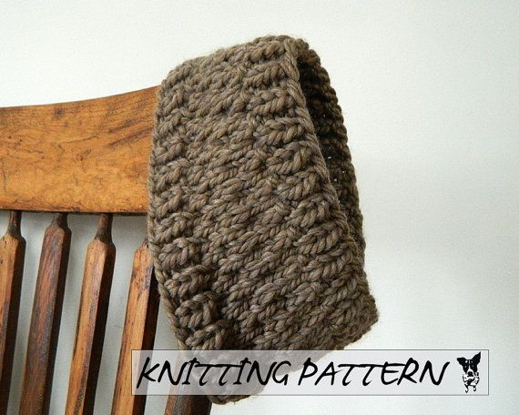 Winter Headband Knitting Pattern : Winter Headband Knitting Pattern - Knitted Headband PDF Pattern - Ins?