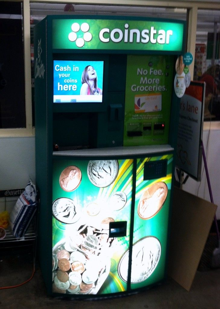 Coinstar you can get your cash back or put it onto a gift card to