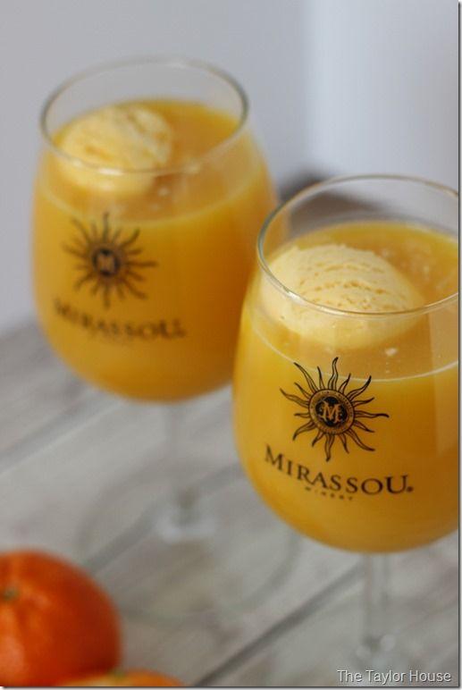 Moscato Float, Orange Creamsicle Moscato Float,