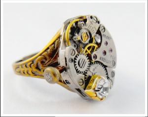 Cute steampunk ring.