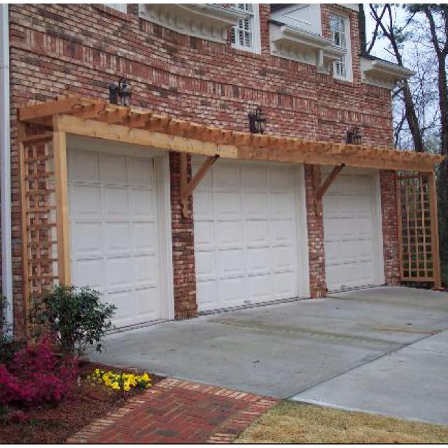 Pergola Over Garage Doors Home Ideas Pinterest