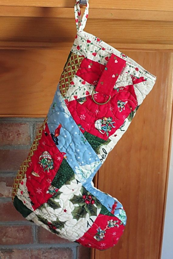 Quiltsy christmas stocking quilted christmas stocking by dellillians