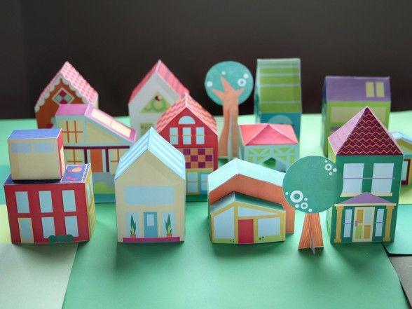 Как сделать домик из цветной бумаги своими руками 654