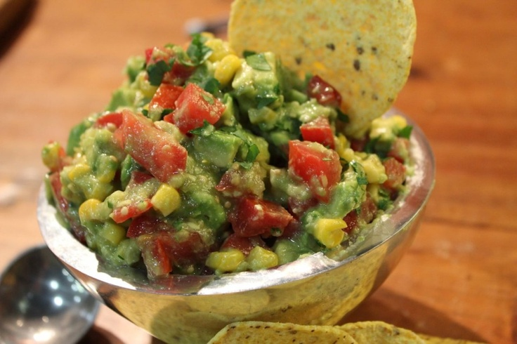 Grilled Corn Guacamole | Foods and Desserts | Pinterest