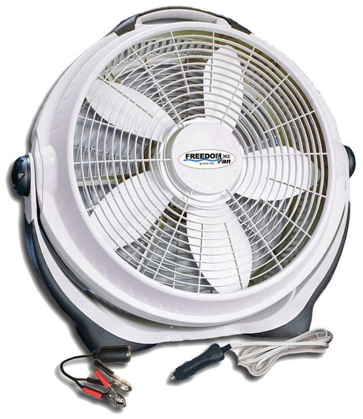 Large 12 Volt Fan : Volt dc battery fans hand crank appliances pinterest