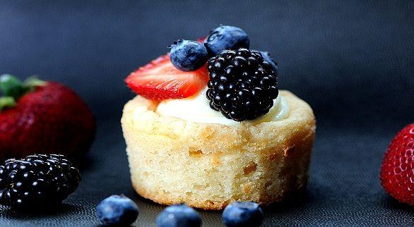 Sugar Cookie Cups w/ fruit